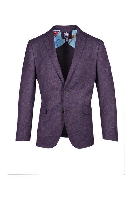 Image of SAVILE ROW CO Plum Notch Collar Dual Button Suit Separate Sport Coat
