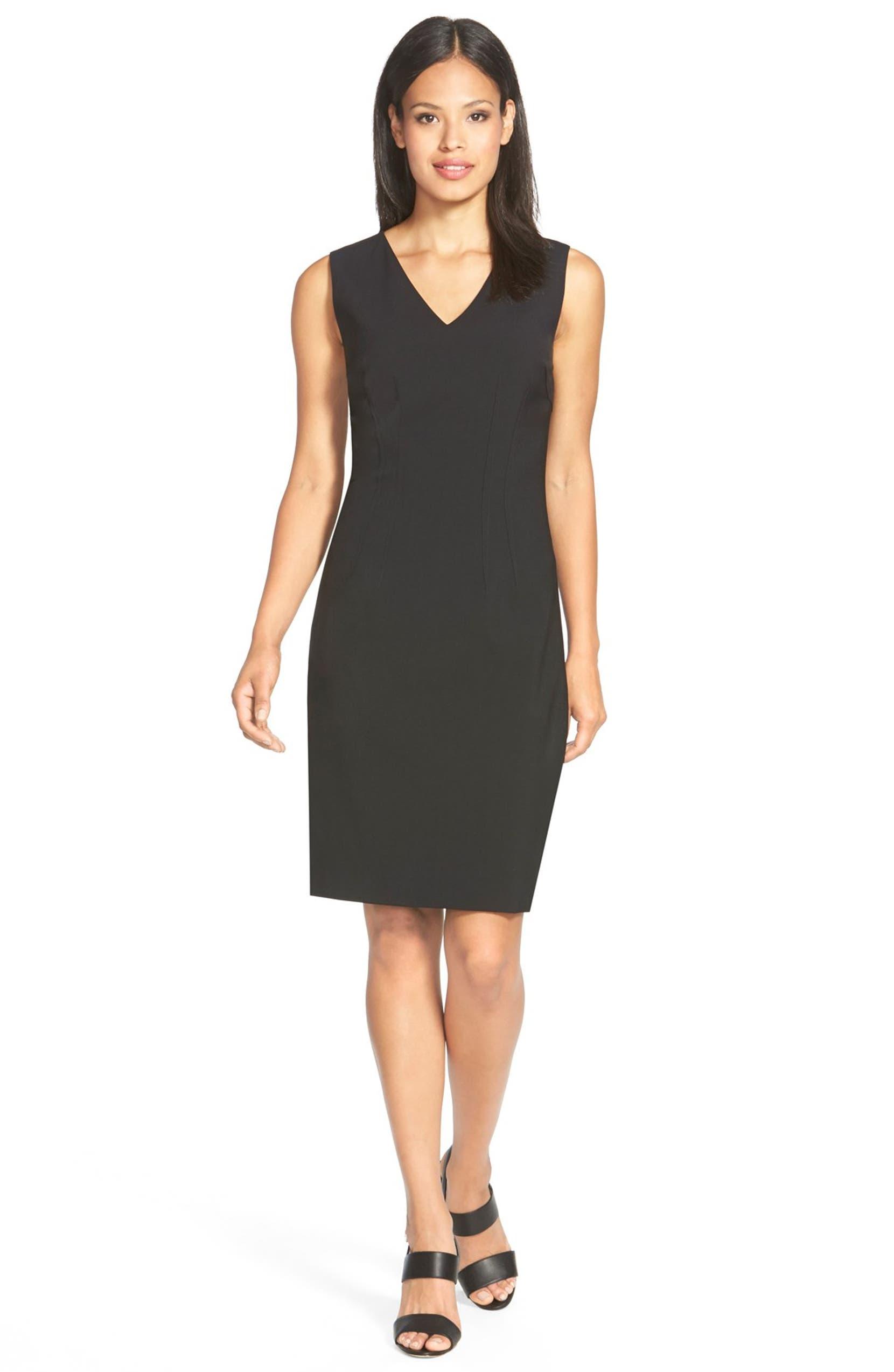bc0ac08ad4da Elie Tahari 'Gwenyth' V-Neck Sheath Dress | Nordstrom