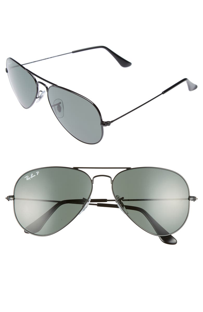 RAY-BAN Original 58mm Aviator Sunglasses, Main, color, 001