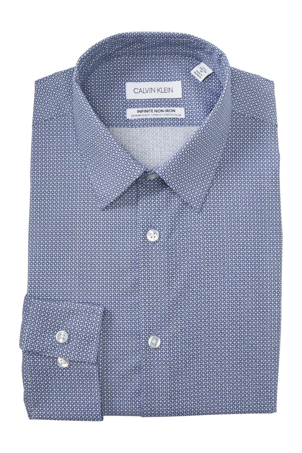 Image of Calvin Klein Geo Extreme Slim Fit Dress Shirt