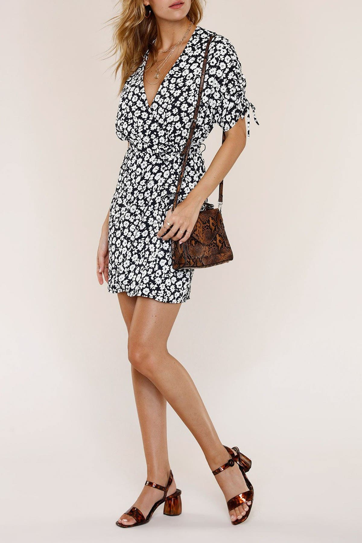 Image of Heartloom Nova Floral Wrap Mini Dress