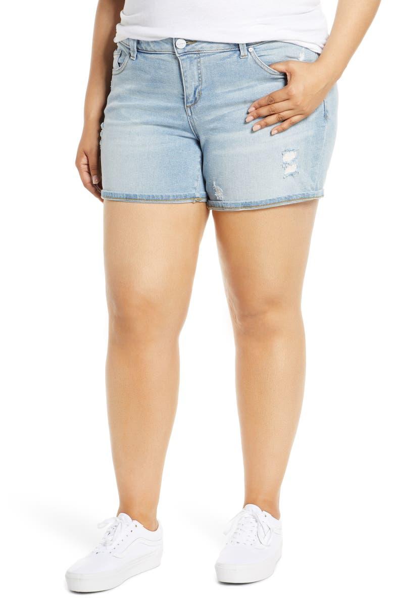 SLINK JEANS Denim Shorts, Main, color, SABRINA