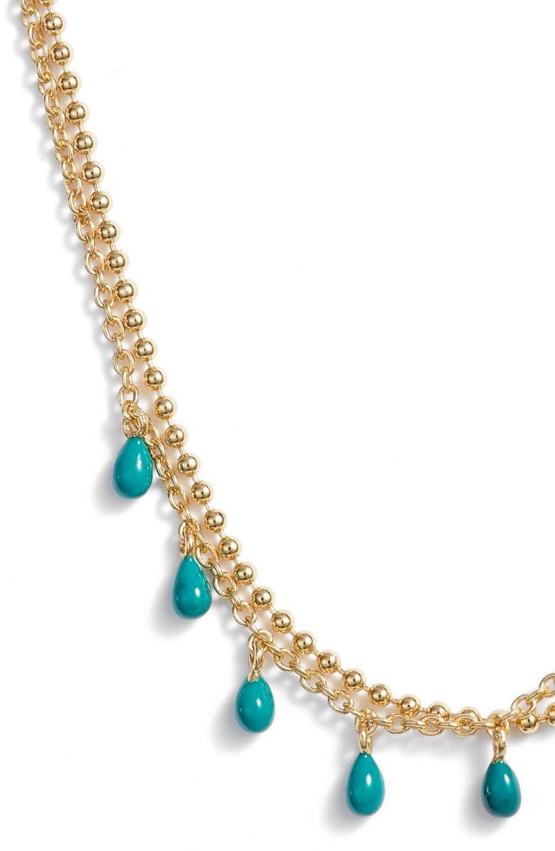 ARGENTO VIVO Enamel Double Layer Necklace, Main, color, GOLD