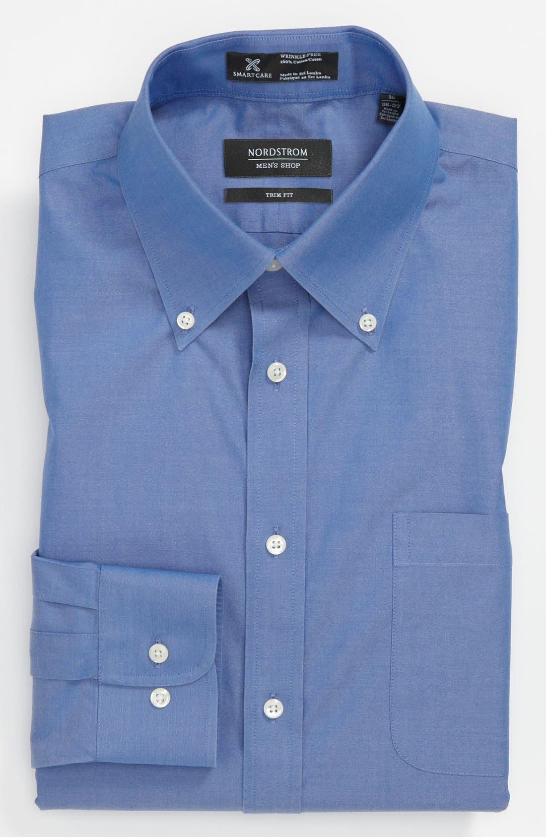 ,                             Smartcare<sup>™</sup> Trim Fit Solid Dress Shirt,                             Main thumbnail 21, color,                             420
