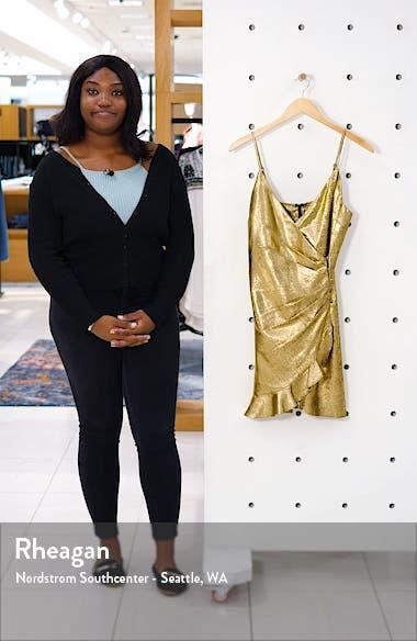 Ruffle Faux Wrap Minidress, sales video thumbnail