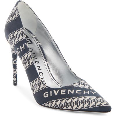 Givenchy Canvas M-Pump, Blue