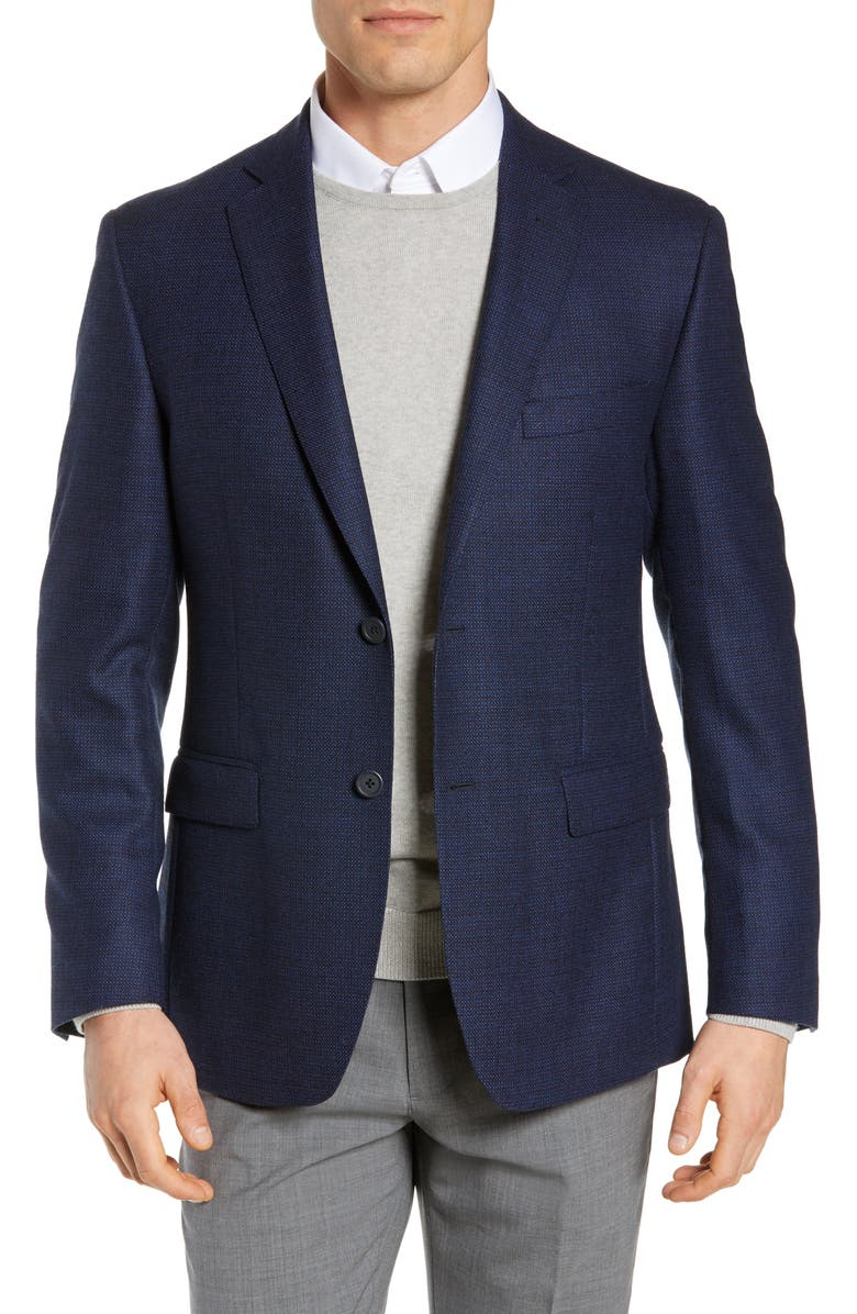 JB BRITCHES Classic Fit Wool Blazer, Main, color, BLUE
