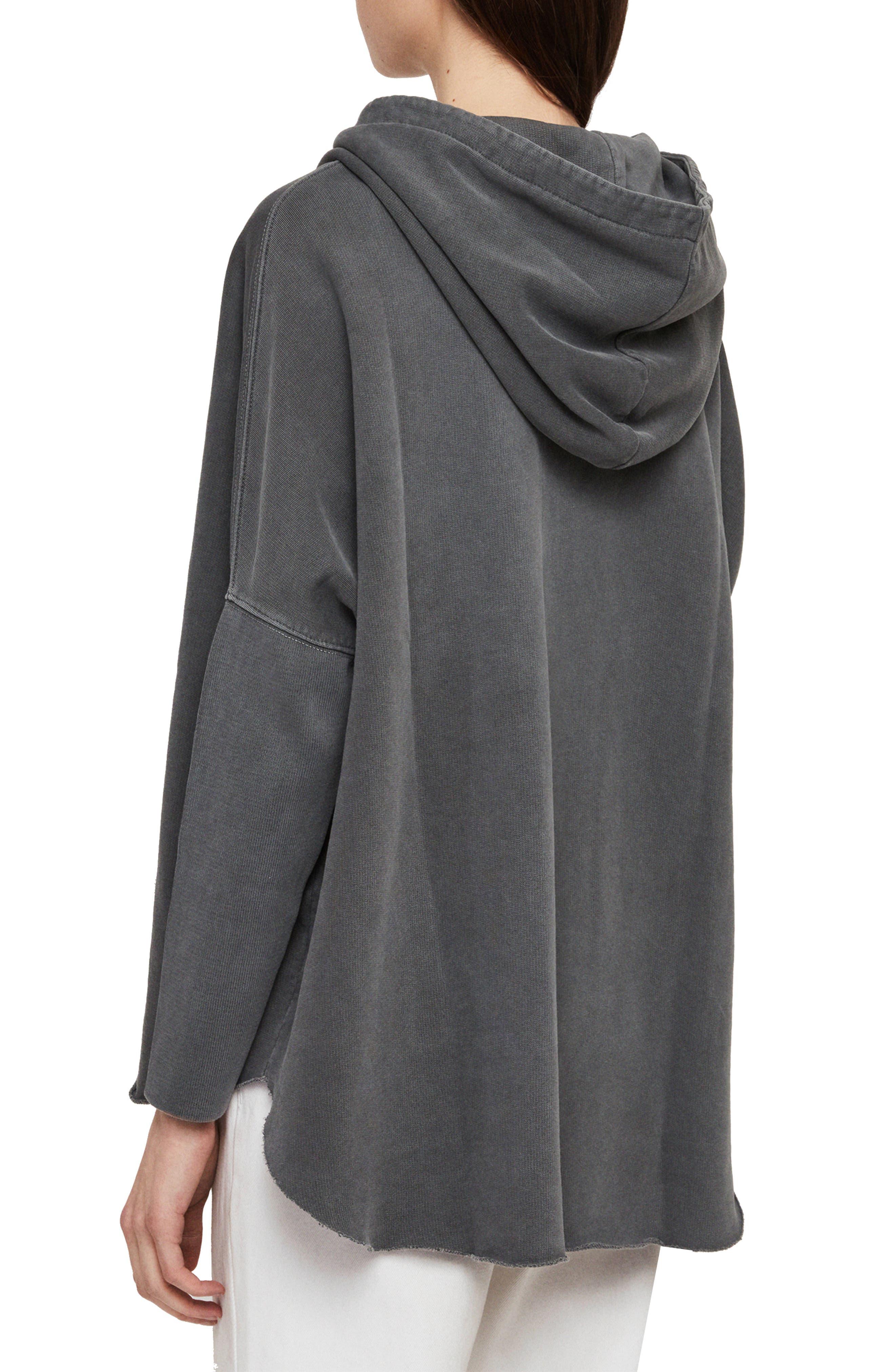 ,                             Xonda Zip Hooded Sweatshirt,                             Alternate thumbnail 2, color,                             WASHED BLACK