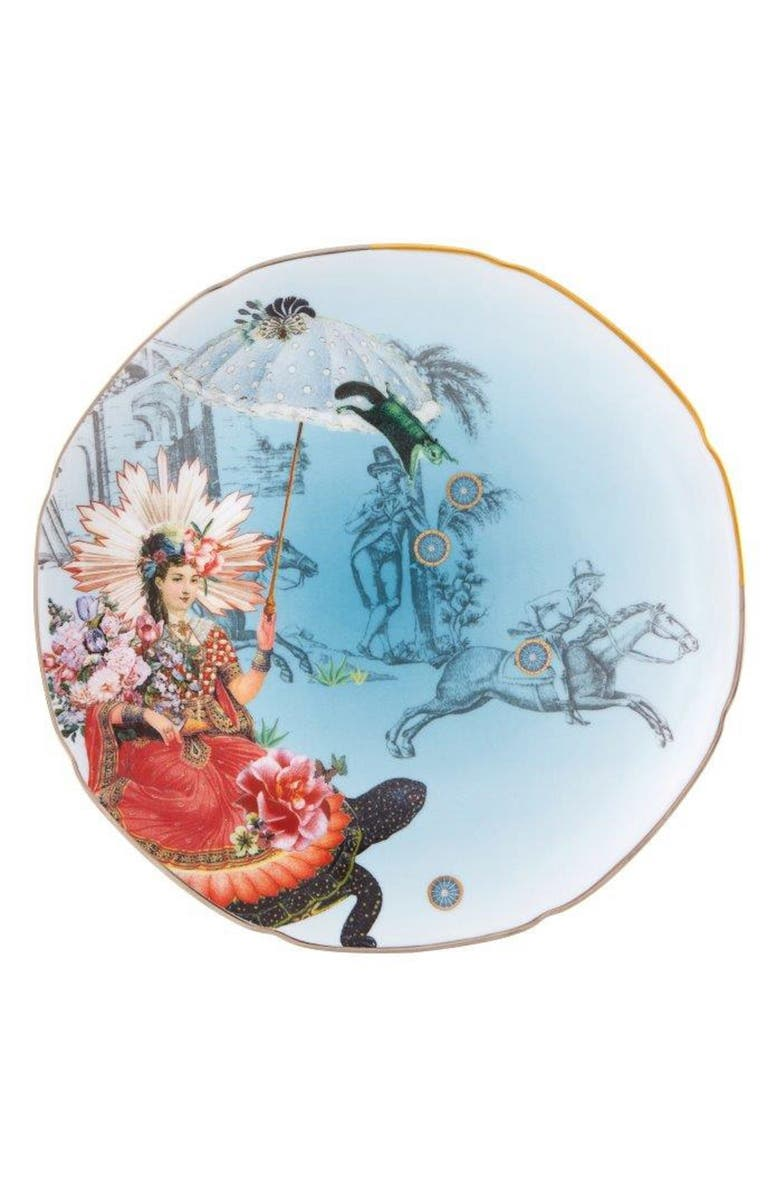 CHRISTIAN LACROIX Reveries Dessert Plate, Main, color, WHITE