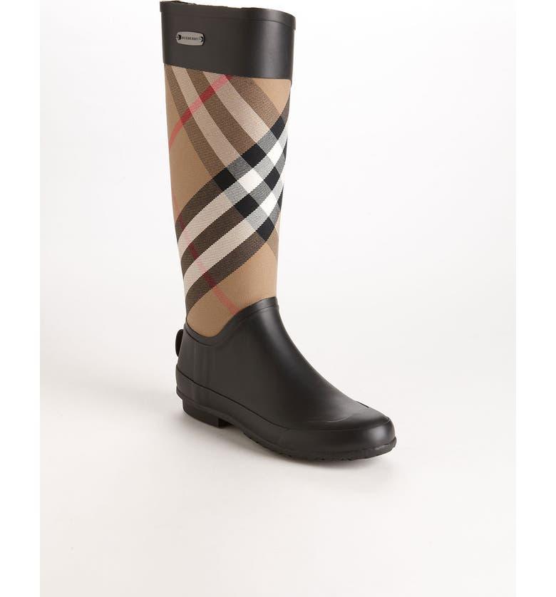 BURBERRY Clemence Rain Boot, Main, color, 204