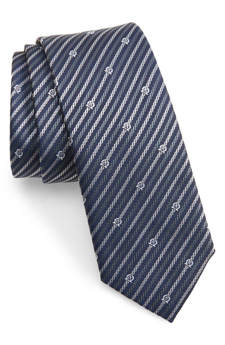 SALVATORE FERRAGAMO Stripe Silk Tie, Main, color, 491