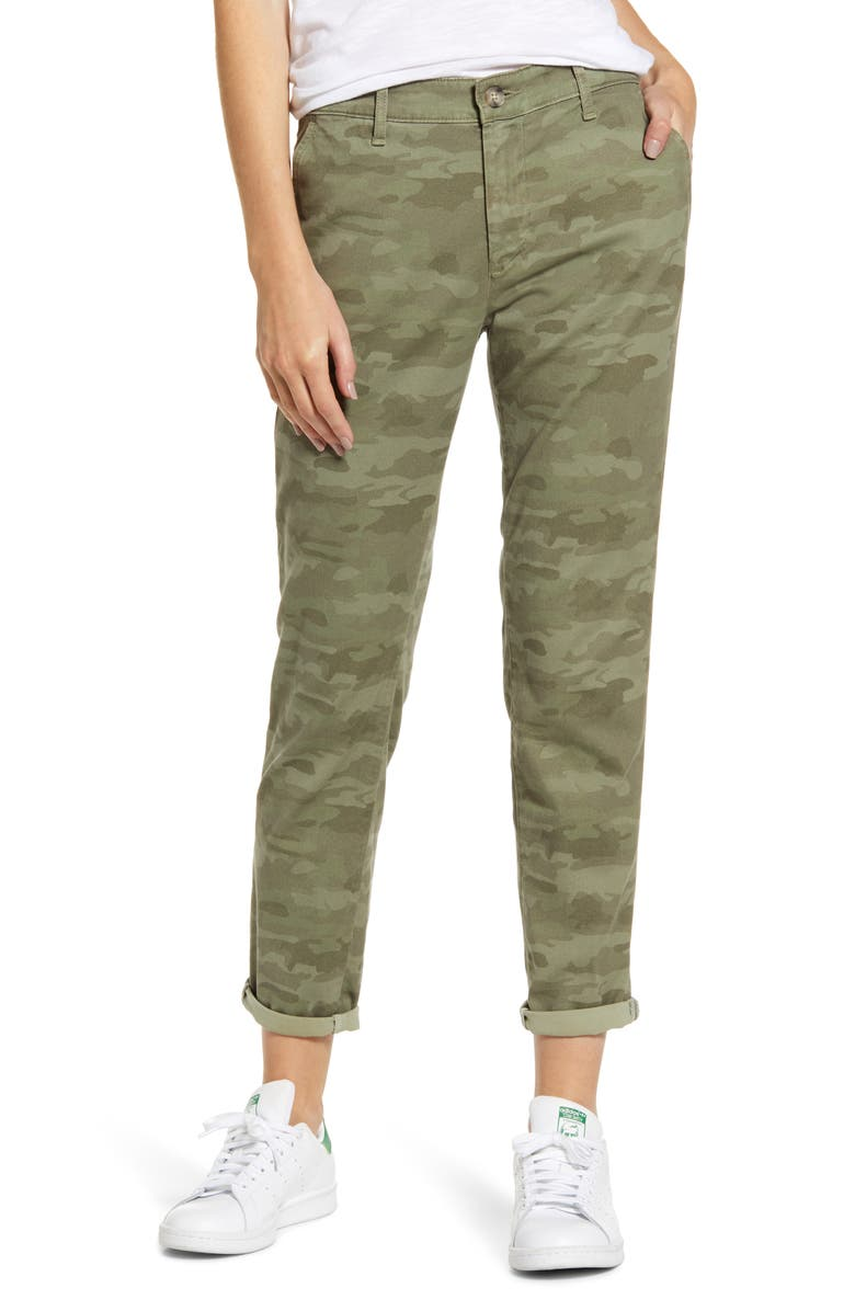 AG Caden Camo Twill Trousers, Main, color, SALTWATER CAMO-SILVER PINE