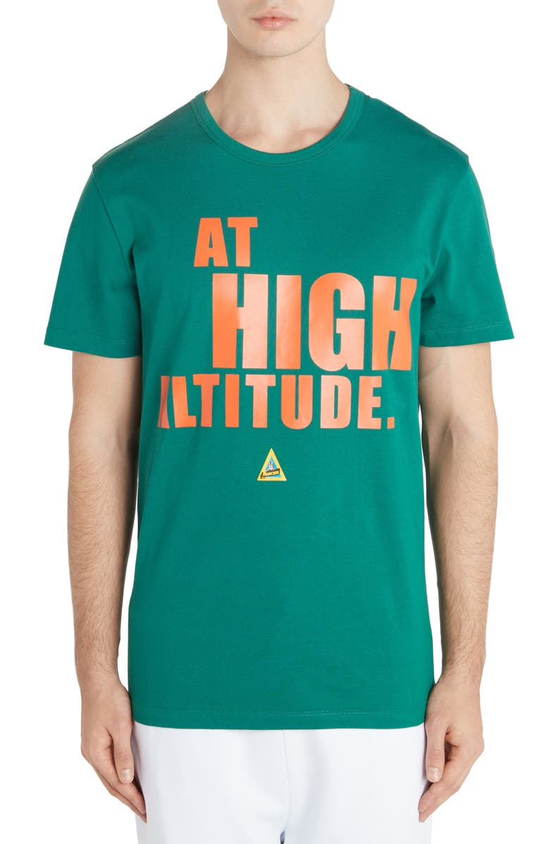 MONCLER At High Altitude Graphic T-Shirt, Main, color, FOREST GREEN