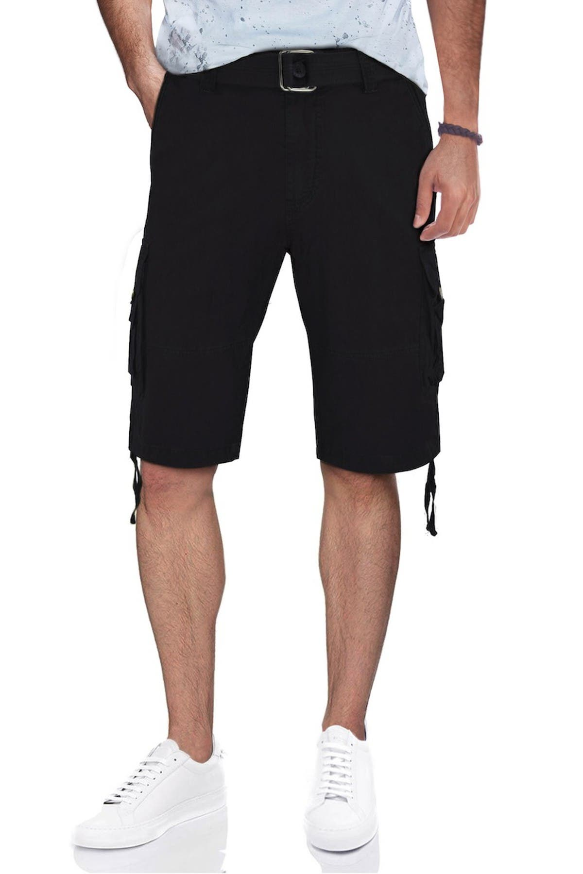 Image of XRAY Belted Twill Piping Camo Shorts