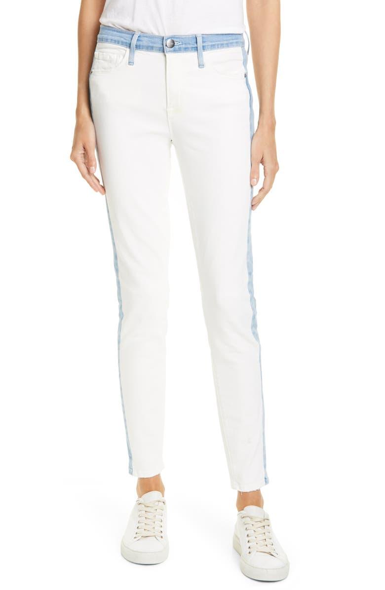 FRAME Le Skinny Colorblock Ankle Skinny Jeans, Main, color, ARIZONA