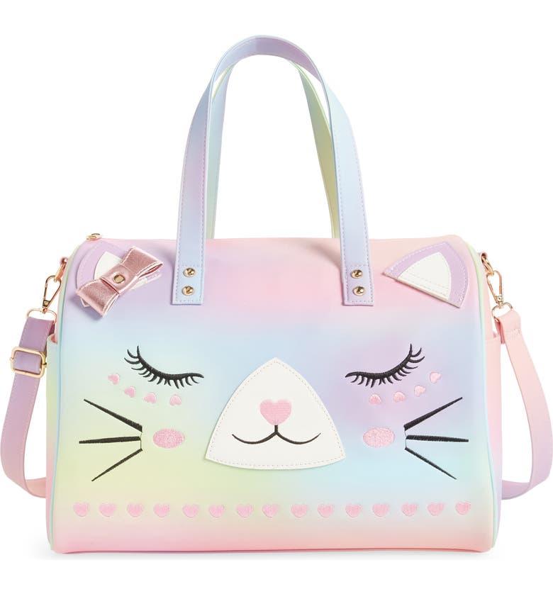 UNDER ONE SKY Kitty Rainbow Weekend Duffle Bag, Main, color, RAINBOW