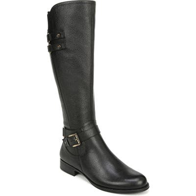 Naturalizer Jackie Tall Riding Boot, Regular Calf- Black