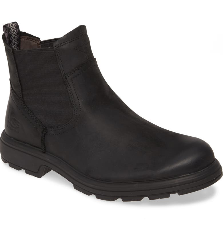 UGG<SUP>®</SUP> Biltmore Waterproof Chelsea Boot, Main, color, BLACK