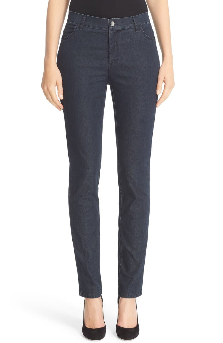 LAFAYETTE 148 NEW YORK 'Primo Denim' Curvy Fit Slim Leg Jeans, Main, color, INDIGO