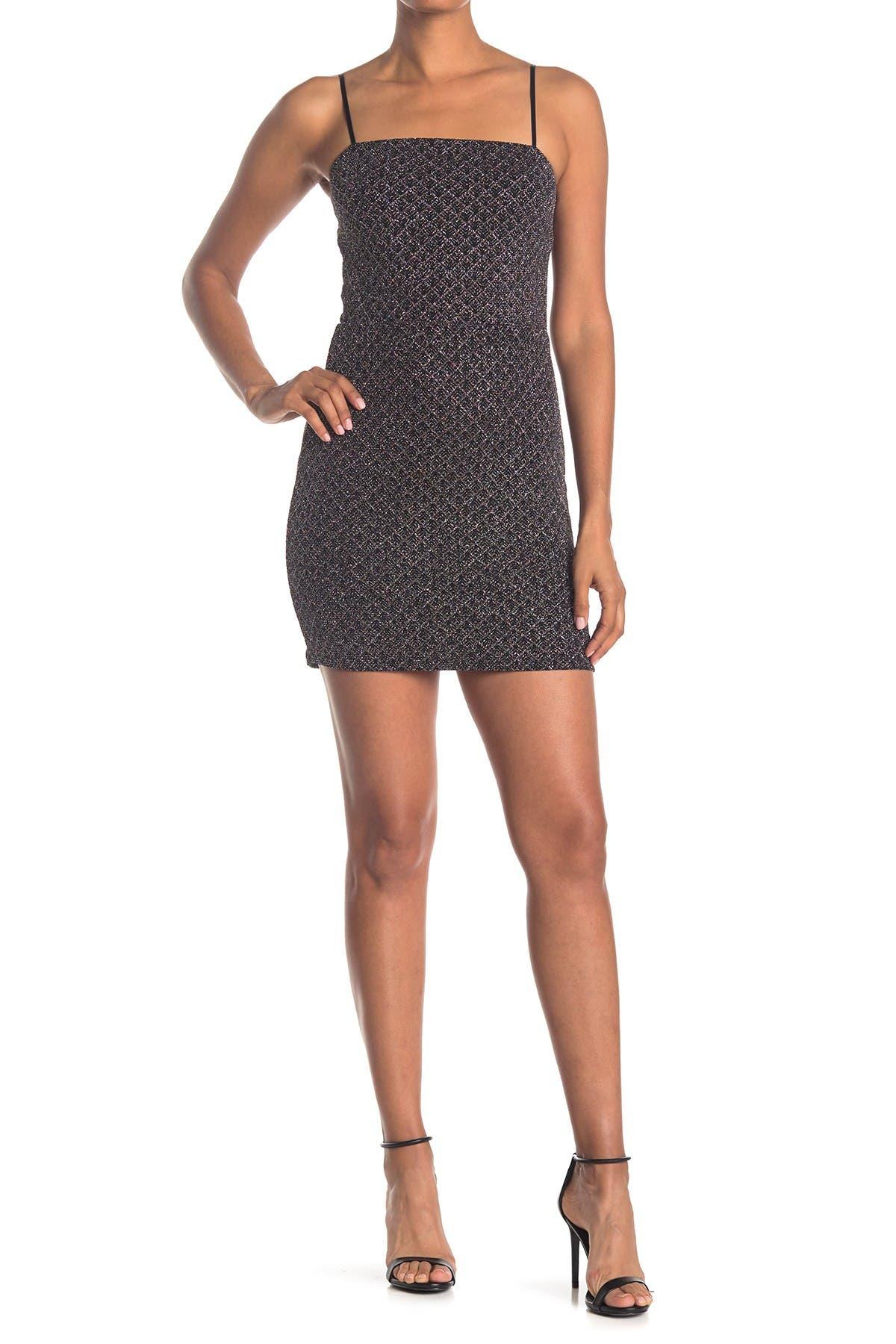 Image of ROW A Glitter Strap Mini Dress