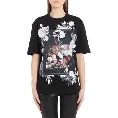 Alexander Mcqueen Rose Album Graphic Tee, 6 IT - Black