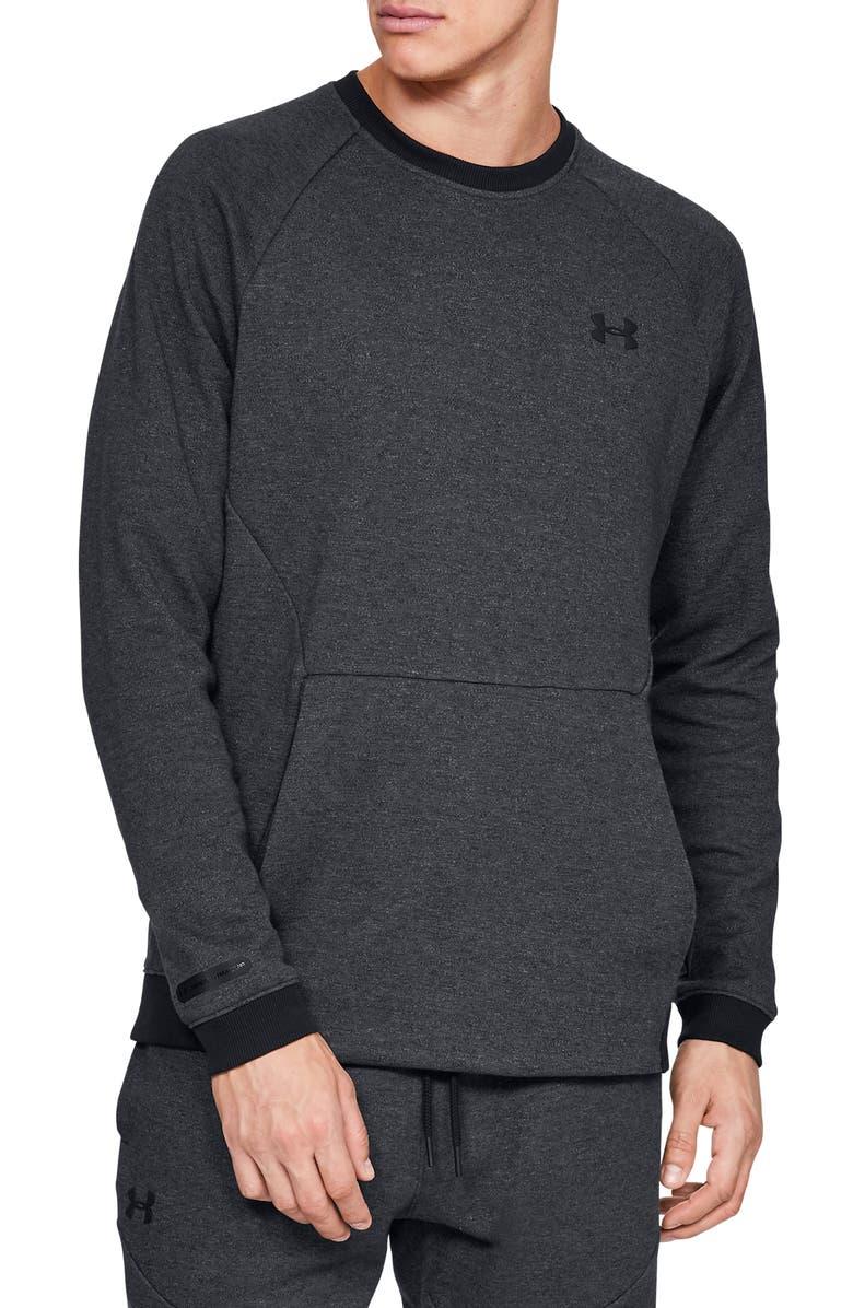 UNDER ARMOUR Sportstyle 2x Crew Sweatshirt, Main, color, 001
