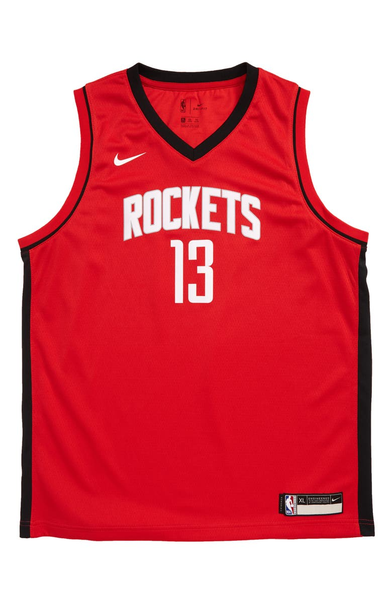 NIKE NBA Houston Rockets James Harden Basketball Jersey, Main, color, BLACK