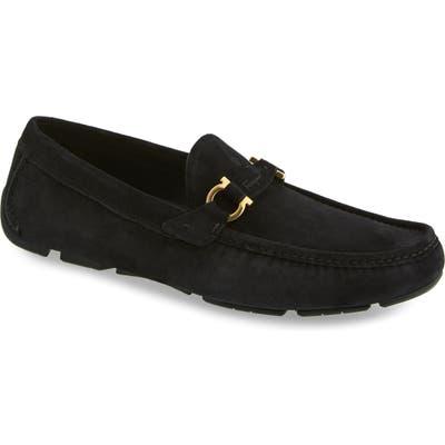 Salvatore Ferragamo Teddy Driving Shoe, M/W - Black