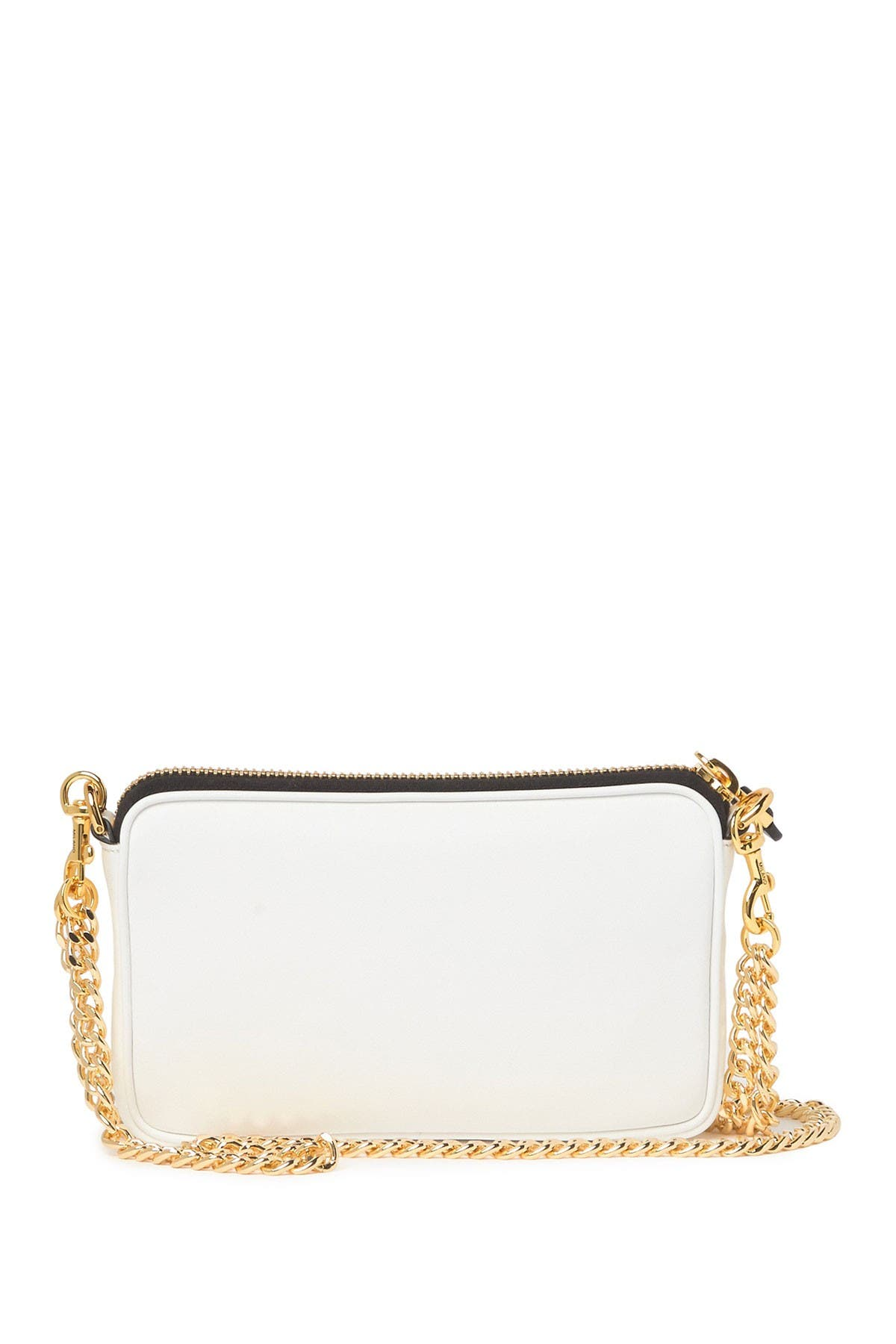 Image of MOSCHINO Logo Chain Strap Leather Crossbody Bag