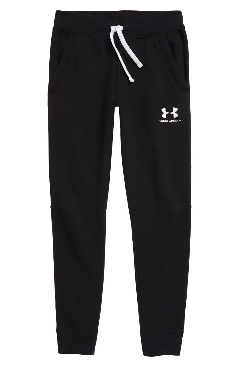 UNDER ARMOUR Fleece Jogger Pants, Main, color, BLACK