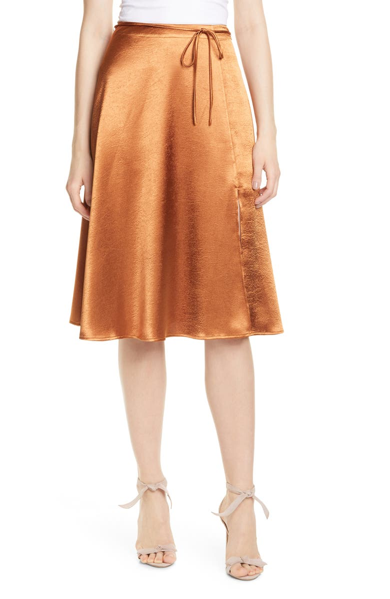 alberic-satin-skirt by joie