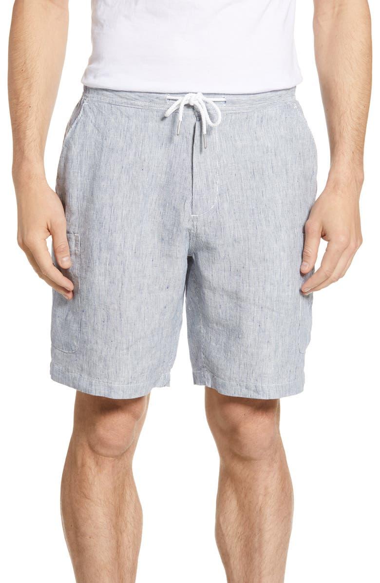 Pinstripe Linen Cargo Shorts by Reyn Spooner