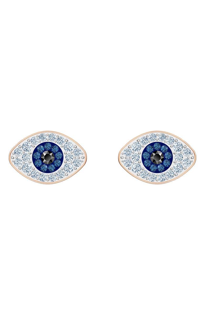 SWAROVSKI Symbolic Evil Eye Stud Earrings, Main, color, 650