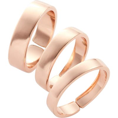 Lisa Freede Set Of 3 Adjustable Band Rings