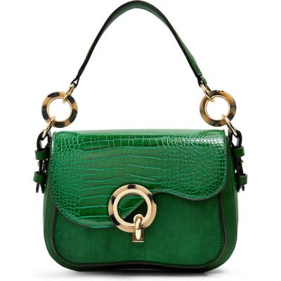Topshop Carlo Shoulder Bag - Green