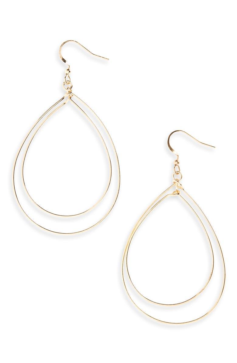BP. Interlocking Teardrop Earrings, Main, color, 710