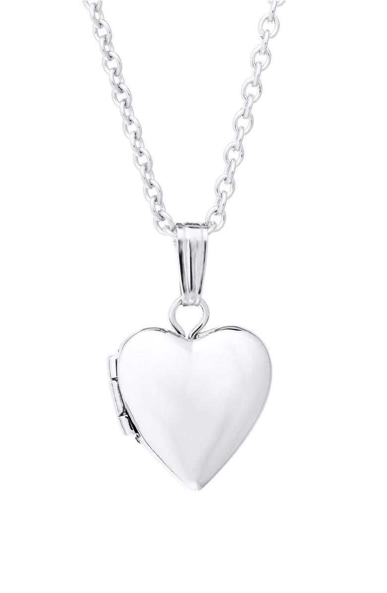 MIGNONETTE Sterling Silver Locket Necklace, Main, color, SILVER