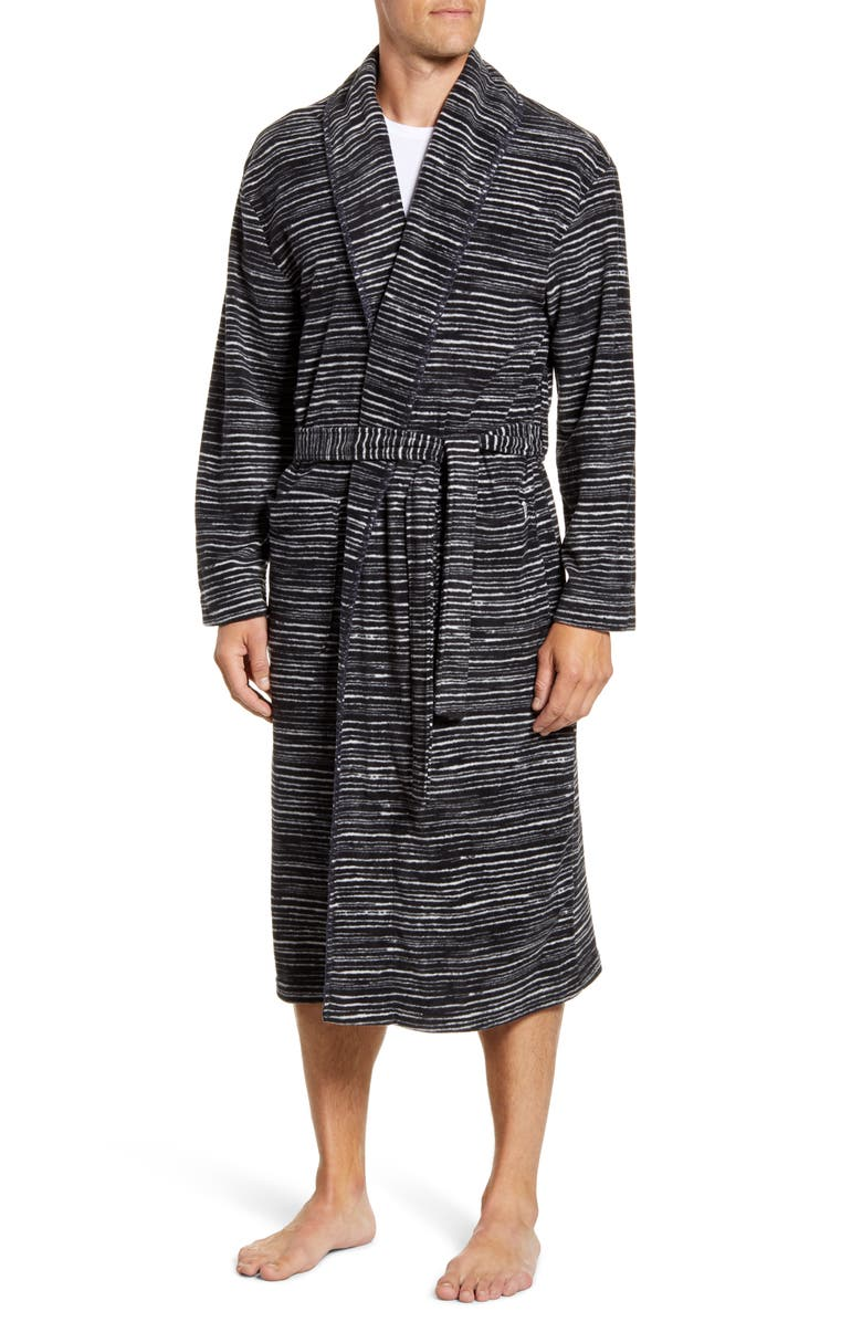 MAJESTIC INTERNATIONAL Cascade Polar Robe, Main, color, CHARCOAL