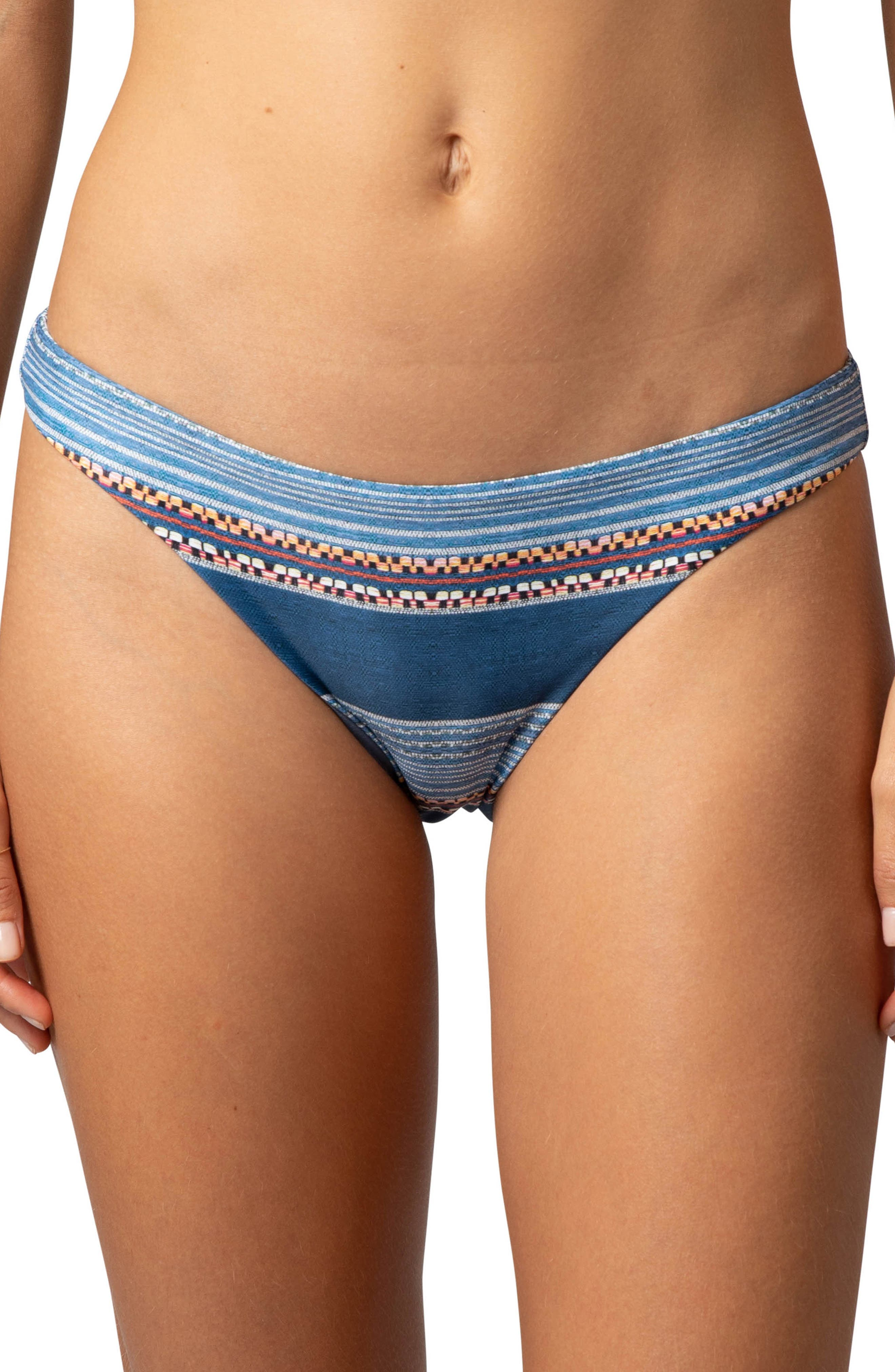 Rip Curl Riversong Cheeky Bikini Bottoms, Blue