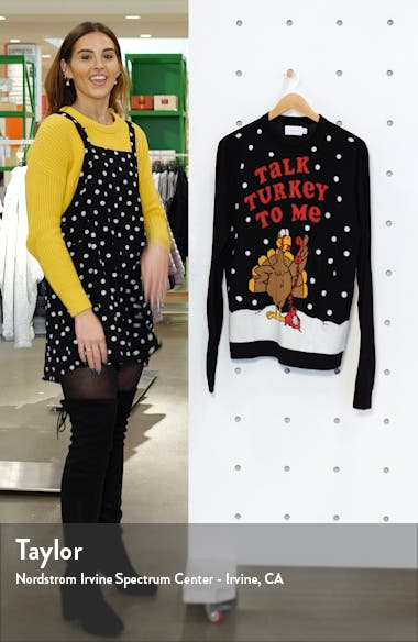 Christmas Talk Turkey Crewneck Sweater, sales video thumbnail