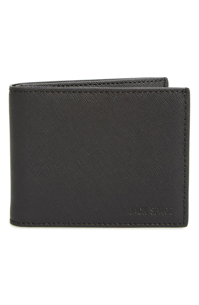 JACK SPADE 'Barrow' Leather Wallet, Main, color, 001