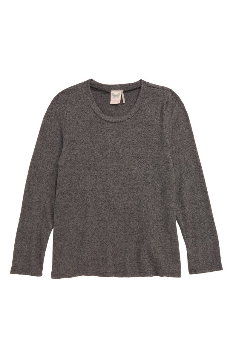 FOR ALL SEASONS Long Sleeve Top, Main, color, CHARCOAL