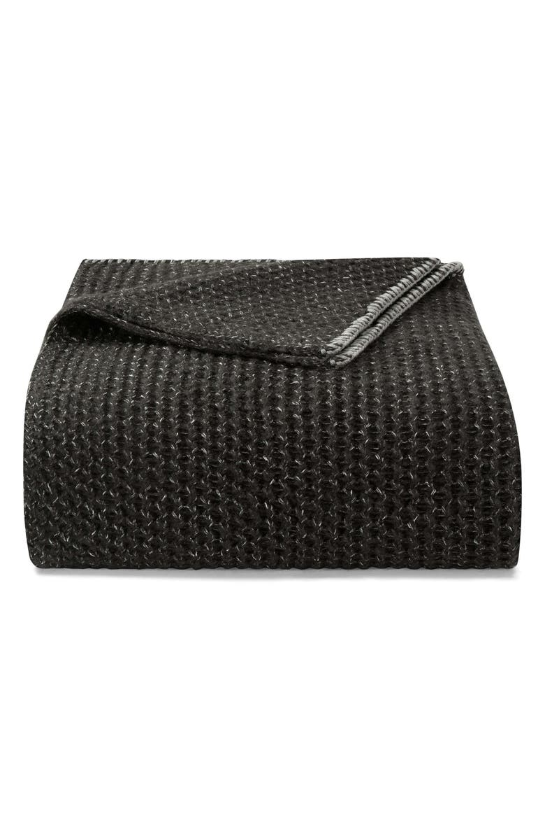 VERA WANG Marled Knit Throw Blanket, Main, color, 001