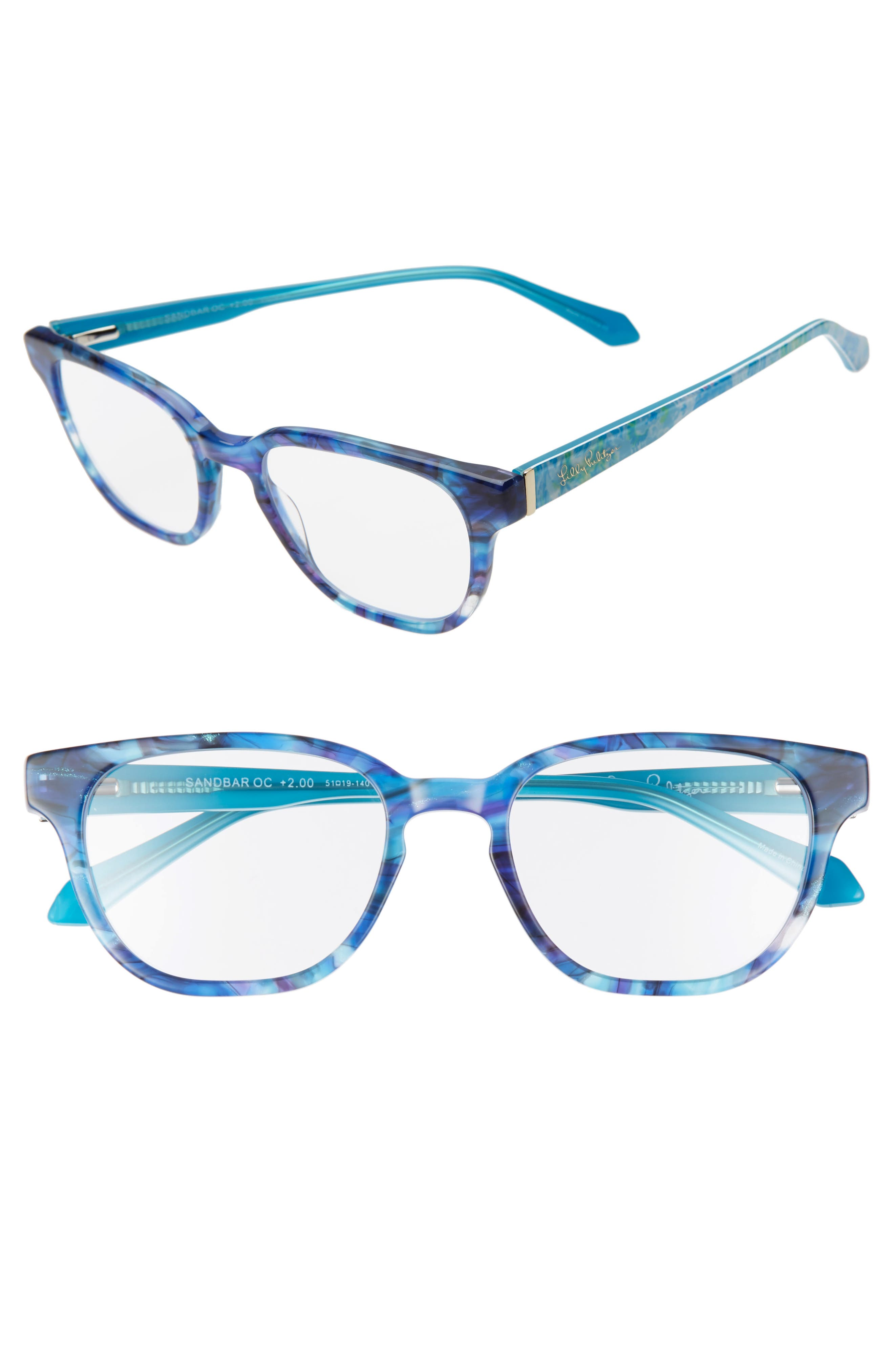 Grab a book and get ready for a day lounging on the sand with these reading glasses in a classically chic silhouette. Style Name: Lilly Pulitzer Sandbar 51mm Reading Glasses. Style Number: 5984857. Available in stores.