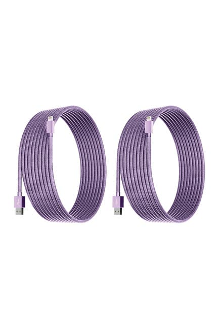 Image of POSH TECH Light Purple 6 Ft Apple Certified Charge N Sync Lightning Cables - Pack of 2