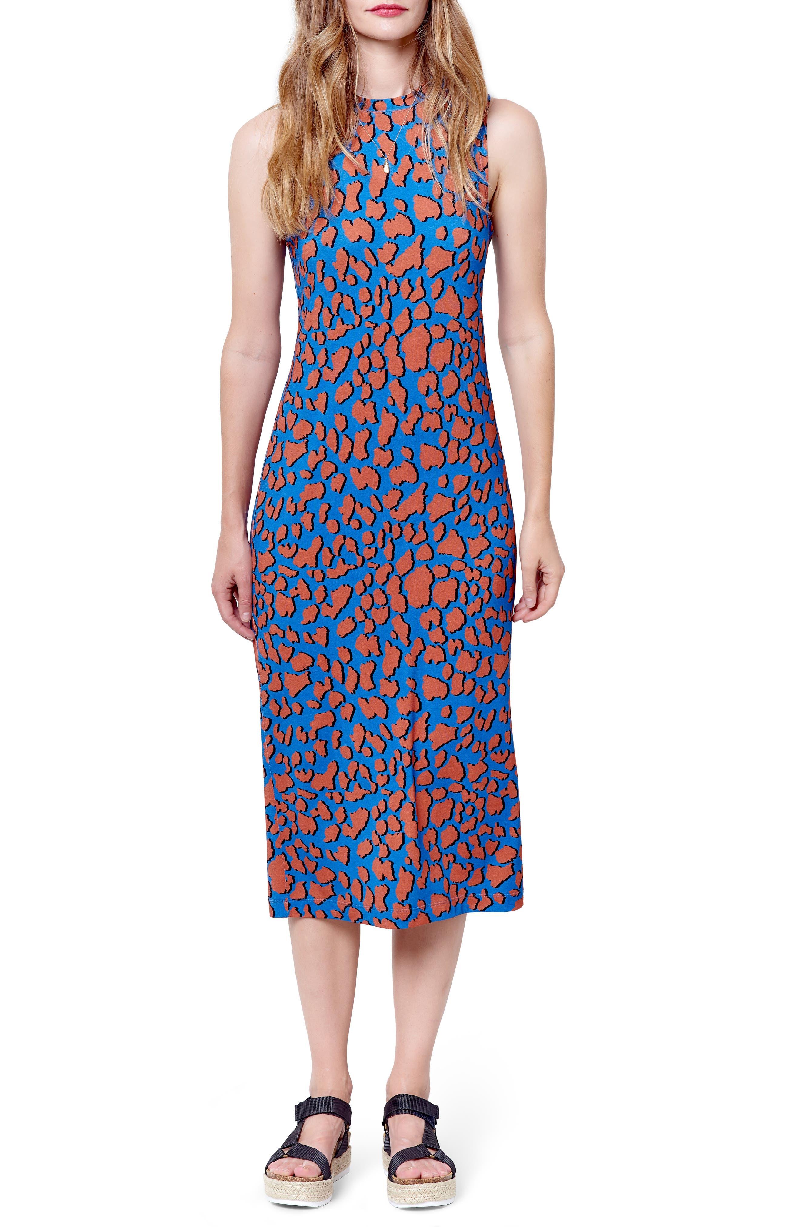 Animal Print Column Dress