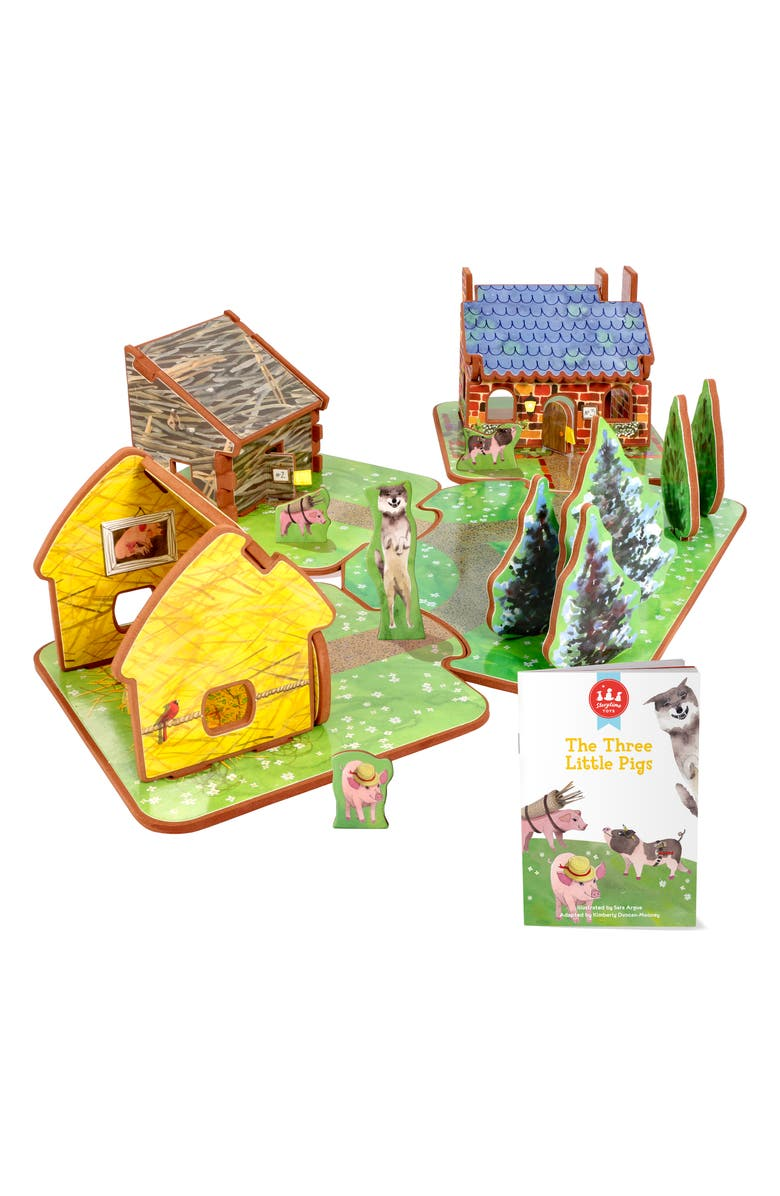 STORYTIME 'The Three Little Pigs' Book & Play Set, Main, color, MULTI