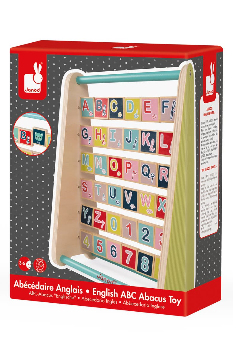 JANOD Baby Forest Alphabet Abacus Toy, Main, color, MULTI