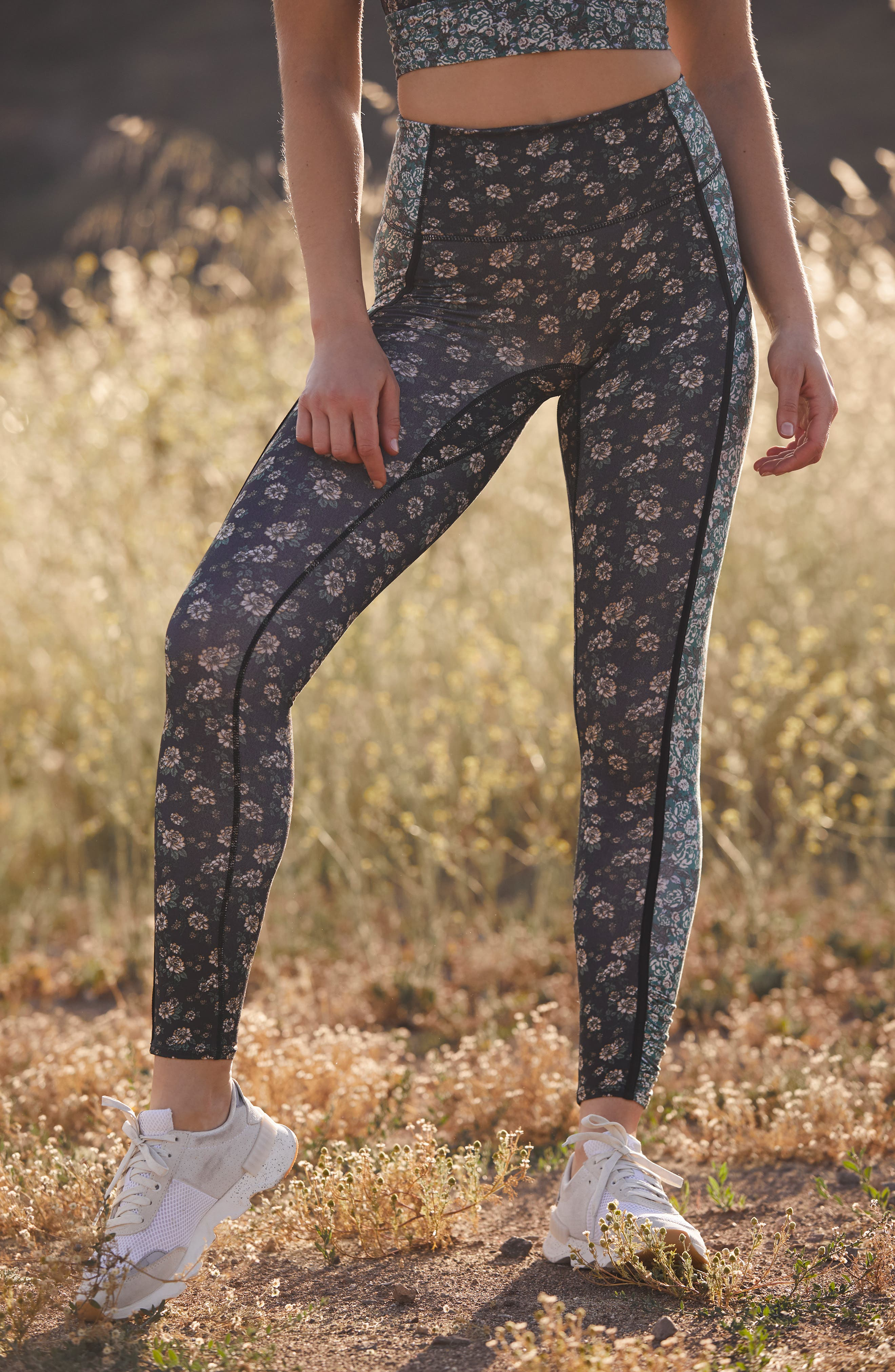 Image of Free People FP Movement You're a Peach Printed Leggings