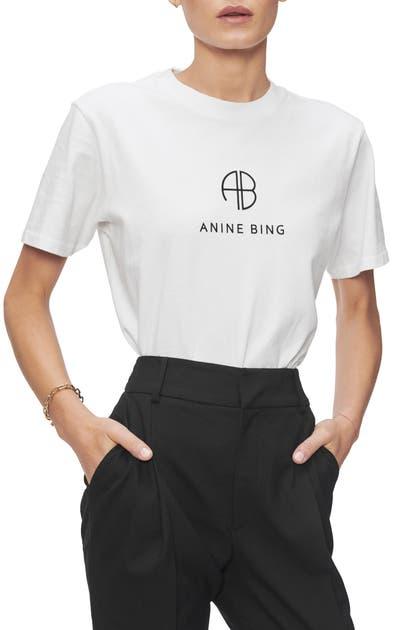 Anine Bing Tops Hudson Monogram Tee